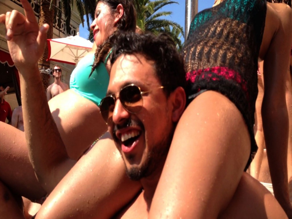 Pool Party Animal having a blast while attending the Encore Beach Club Pool Party.
