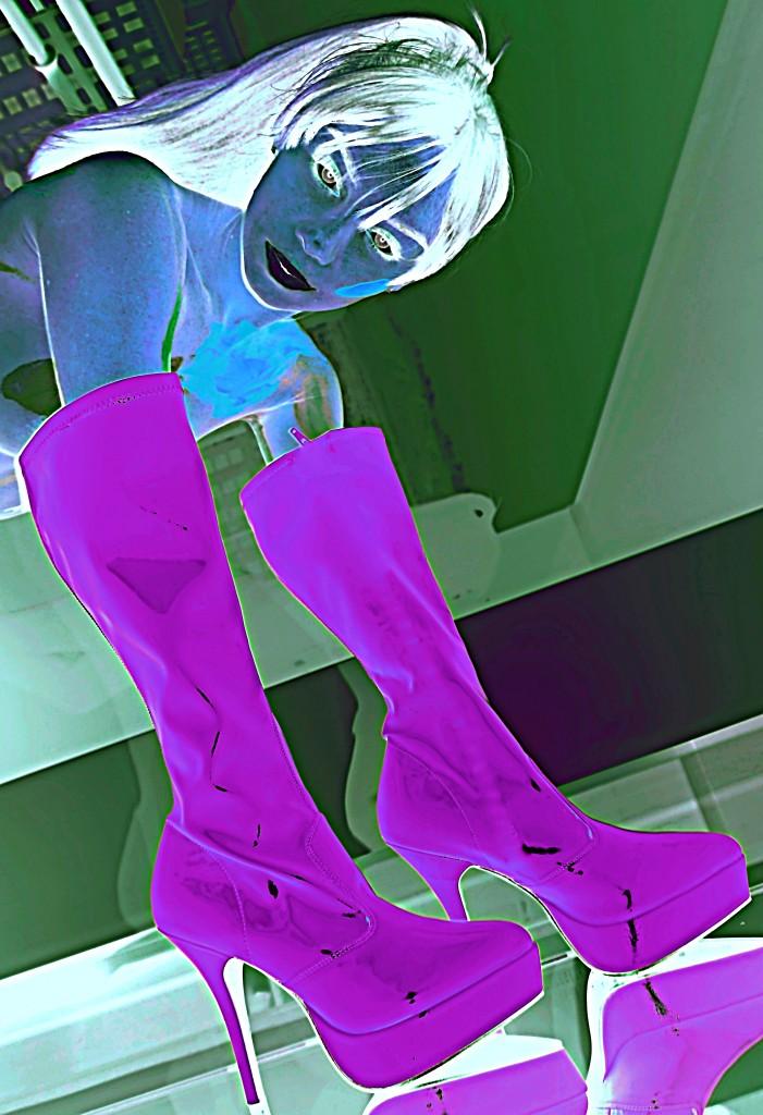 Boot Glove Purple bright