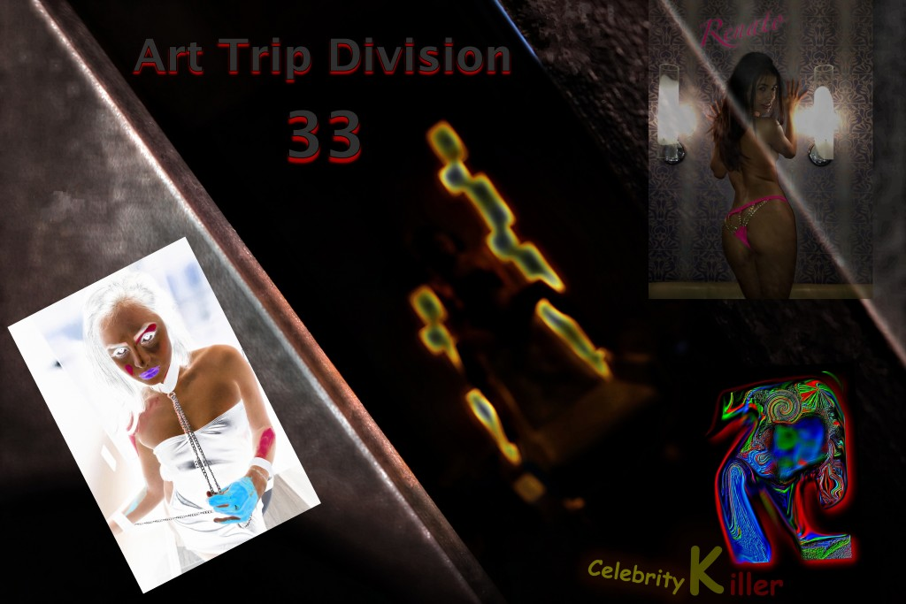 Celebrity Killer Hallucinogenic Art